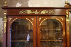 19th Century Empire Style French Mahogany Bookcase - 649355