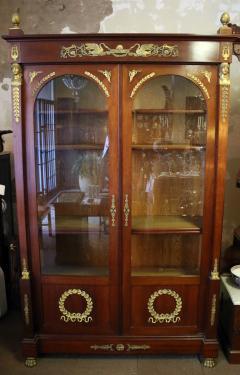 19th Century Empire Style French Mahogany Bookcase - 649356