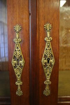 19th Century Empire Style French Mahogany Bookcase - 649358