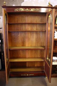 19th Century Empire Style French Mahogany Bookcase - 649359