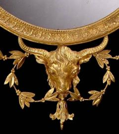 19th Century English Giltwood Oval Mirror in the Neoclassical Style - 674624
