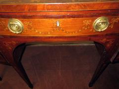 19th Century English Hepplewhite Mahogany Bow Front Sideboard Server - 990298