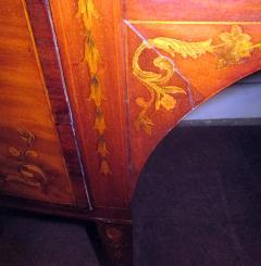 19th Century English Hepplewhite Mahogany Bow Front Sideboard Server - 990299