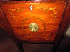 19th Century English Hepplewhite Mahogany Bow Front Sideboard Server - 990300