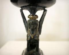 19th Century French Egyptian Revival Gilt Bronze and Marble Compotes - 829226