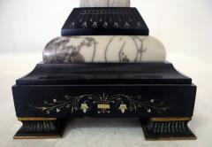 19th Century French Egyptian Revival Gilt Bronze and Marble Compotes - 829227