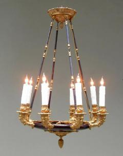 19th Century French Empire Patinated Brass and Zinc North Winds Chandelier - 355912