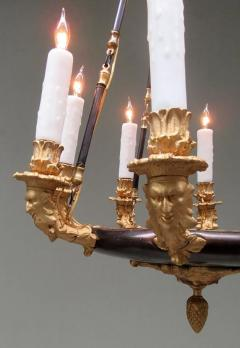19th Century French Empire Patinated Brass and Zinc North Winds Chandelier - 355914