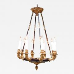 19th Century French Empire Patinated Brass and Zinc North Winds Chandelier - 356361
