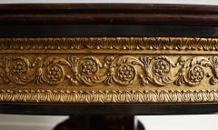 19th Century French Empire Style Round Table Carved with Fish Head Lion Paws - 976430