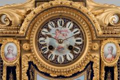 19th Century French Louis XVI Clock Garniture with S vres Porcelain and Ormolu - 618382