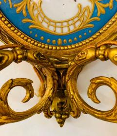 19th Century French Ormolu Wall Sconce with Limoges Porcelain - 1688694
