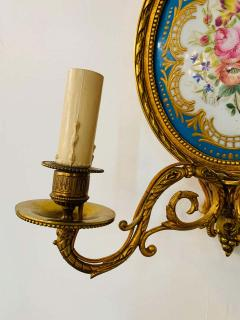 19th Century French Ormolu Wall Sconce with Limoges Porcelain - 1688697