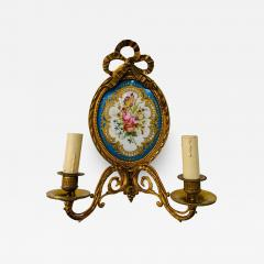 19th Century French Ormolu Wall Sconce with Limoges Porcelain - 1695355