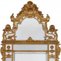 19th Century French carved gilt wood mirror in the R gence style - 1433276