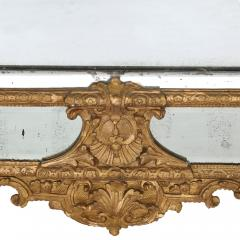 19th Century French carved gilt wood mirror in the R gence style - 1433277