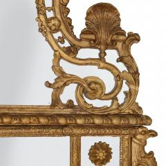 19th Century French carved gilt wood mirror in the R gence style - 1433278