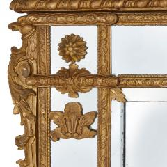 19th Century French carved gilt wood mirror in the R gence style - 1433279