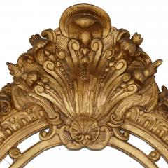 19th Century French carved gilt wood mirror in the R gence style - 1433280
