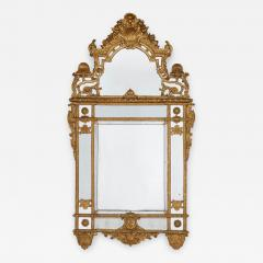 19th Century French carved gilt wood mirror in the R gence style - 1433452
