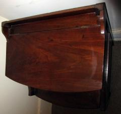 19th Century Georgian Mahogany Bowfront Bedside Table Commode - 996301