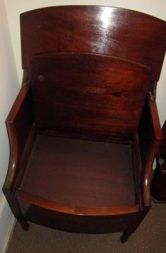 19th Century Georgian Mahogany Bowfront Bedside Table Commode - 996303