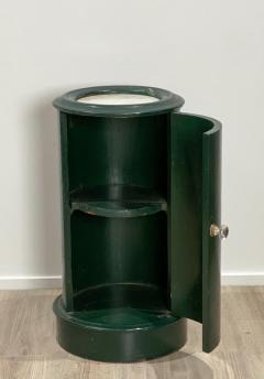 19th Century Green Lacquered Column Cabinet England - 1842823
