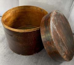 19th Century Handmade Wooden Chinese Hat Box - 1725233