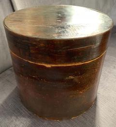 19th Century Handmade Wooden Chinese Hat Box - 1725235