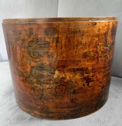 19th Century Handmade Wooden Chinese Hat Box - 1725236