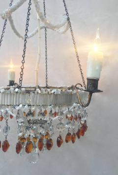 19th century italian empire venetian opaline glass and amber crystal 19th century italian empire venetian opaline glass and amber crystal chandelier 510069 aloadofball Images
