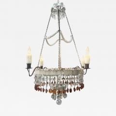 19th century italian empire venetian opaline glass and amber crystal 19th century italian empire venetian opaline glass and amber crystal chandelier 511780 aloadofball Gallery