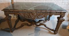 19th Century Louis XIV Italian Console Table with Green Marble Top - 301203