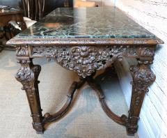 19th Century Louis XIV Italian Console Table with Green Marble Top - 301204