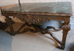 19th Century Louis XIV Italian Console Table with Green Marble Top - 301205