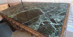 19th Century Louis XIV Italian Console Table with Green Marble Top - 301206