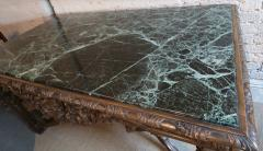 19th Century Louis XIV Italian Console Table with Green Marble Top - 301207