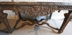 19th Century Louis XIV Italian Console Table with Green Marble Top - 301216