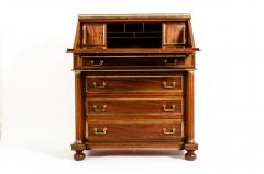 19th Century Mahogany Wood Gallery Top Drop Front Writing Desk - 1125559