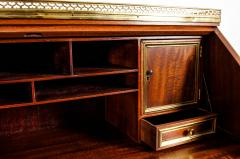 19th Century Mahogany Wood Gallery Top Drop Front Writing Desk - 1125561