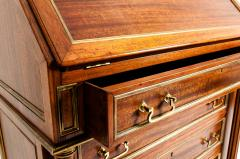 19th Century Mahogany Wood Gallery Top Drop Front Writing Desk - 1125562