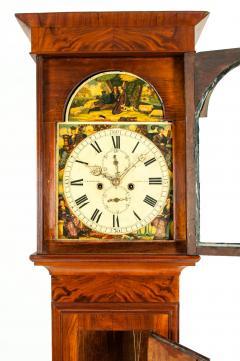 19th Century Mahogany Wood Long Case Clock - 1170328