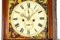 19th Century Mahogany Wood Long Case Clock - 1170330