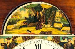 19th Century Mahogany Wood Long Case Clock - 1170331