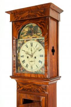 19th Century Mahogany Wood Long Case Clock - 1170335