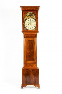 19th Century Mahogany Wood Long Case Clock - 1170337