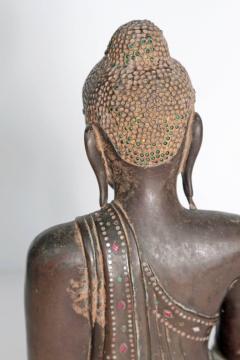 19th Century Mandalay Style Buddha of Bronze with Verdigris - 1980401