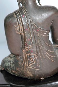 19th Century Mandalay Style Buddha of Bronze with Verdigris - 1980402