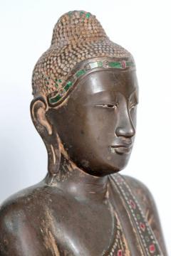 19th Century Mandalay Style Buddha of Bronze with Verdigris - 1980404