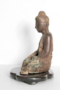 19th Century Mandalay Style Buddha of Bronze with Verdigris - 1980408